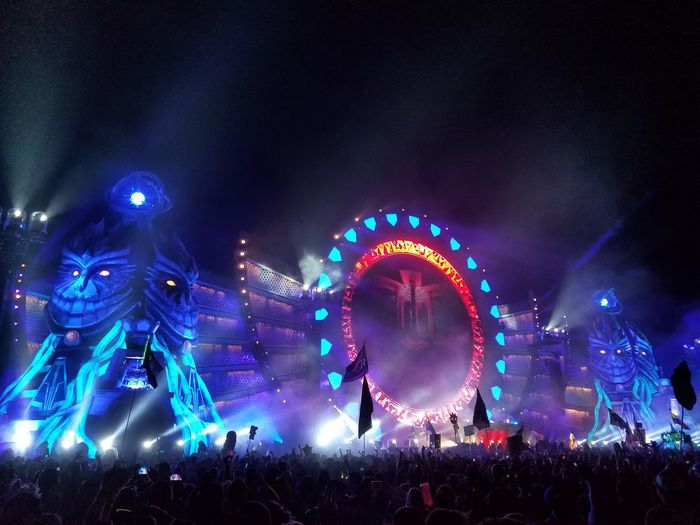 EDC Electric Daisy Carnival Orlando Orlando Florida Techno Crowd Festival Music Illuminated Night Large Group Of People Crowd Popular Music Concert Outdoors People Neon Life Capture Tomorrow
