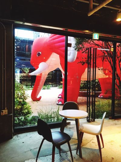 Cafe Cafe Time Coffee Insadong FreeTime Trip Red No People Indoors  Built Structure Day