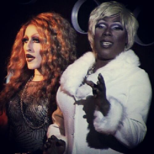 With my sis @sahsheyCouture at my show @werk_akillerdragrevue hope to see all my Werkaholics tomorrow! at HambugerMarys LB