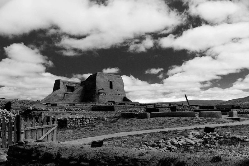 Old ruin against cloudy sky