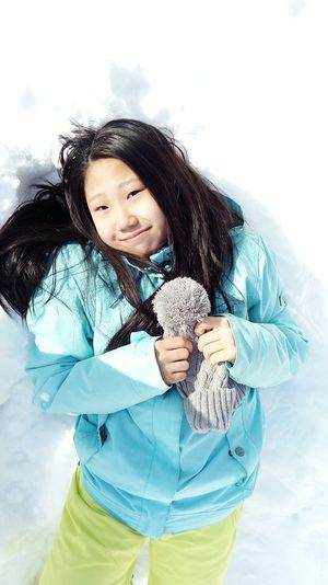 """Child One Person Portrait Girls People Lifestyles One Girl Only Smiling Nature Cheerful Outdoors Day Women One Woman Only Front View Young Women Only Women One Young Woman Only Snow Fabruary Winter Warm Clothing. Beauty Young Adult Beautiful People special photoset """"Happiness in snow"""""""