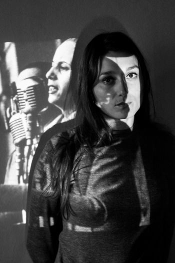 Evita Peron Portrait Of A Woman Rosario Argentina Blackandwhite Eye Portrait Proyector
