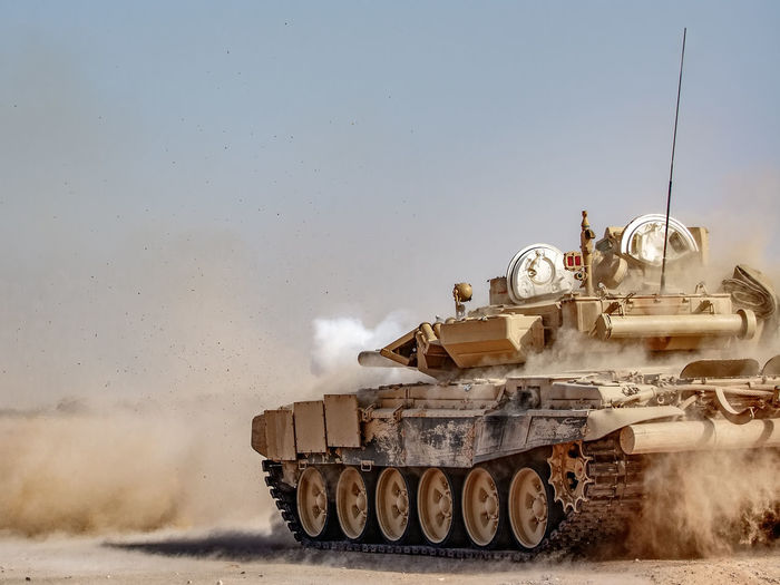 Tank Middle East Russian Tank Syria  T90 Armed Forces Armored Tank Army Conflict Dust Field Fighting Government Land Land Vehicle Military Mode Of Transportation Motion Nature Outdoors Russian Sky Smoke - Physical Structure Tank Transportation War