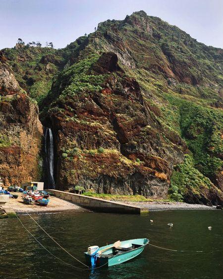 Madeira Island Portugal Mountain Ocean Beautiful Nature Travel Sky Boat