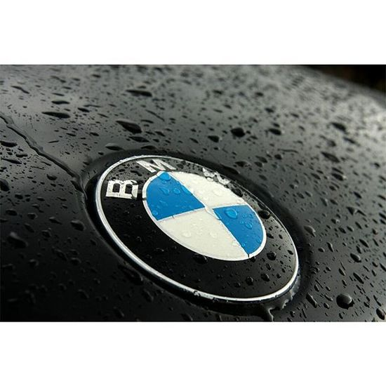The Roundel.....Taken while taking a break from chasing thunderstorms in the mountains. Photography Bmw Roundel Rain Rainonthehood Waterbeads Cars
