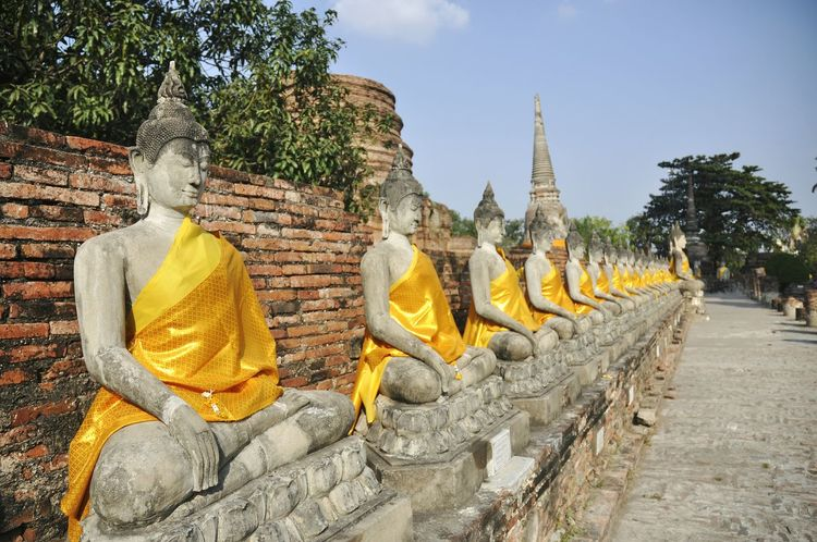 Buddha statue Religion History Spirituality Archival Ancient Day Outdoors Archaeological Thailand Ayutthaya