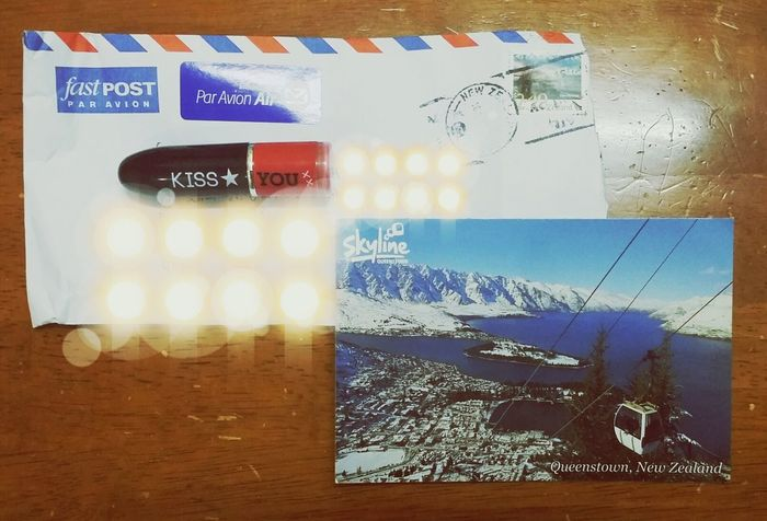 got mail!!! a lippy and a postcard from my twin hehe Snail Mail Post Card Hello World Check This Out