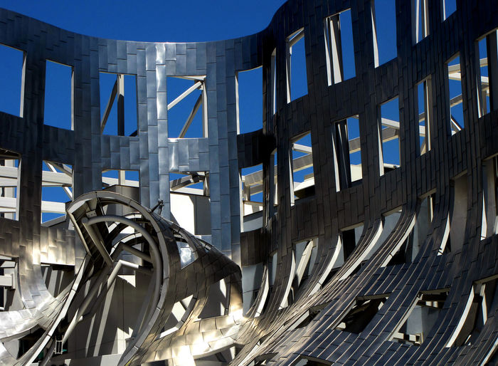 Abstract Architecture Backgrounds Blue Building Exterior Built Structure Day Futuristic Low Angle View Metal No People Outdoors Silver  The Graphic City