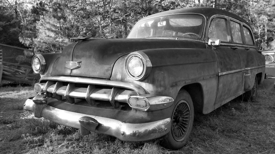 Rusty Goodness Antiquated Technology Stationwagon Cheese! Upclose And Personal B&W With A Splash Of Color Black And White Photography Old Car Junkie