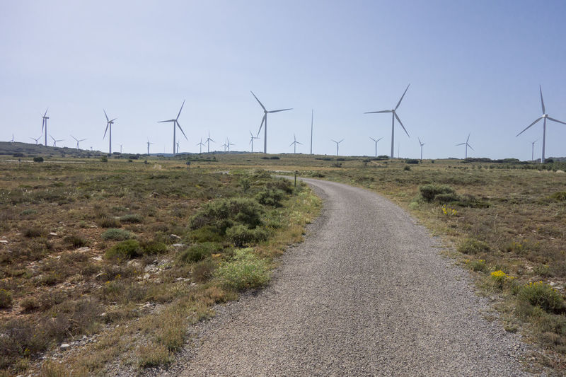 Alternative Energy Barracas Castellón Day Environmental Conservation Field Fuel And Power Generation Grass Industrial Windmill Landscape Nature No People Outdoors Renewable Energy Road Rural Scene Sky The Way Forward Wind Power Wind Turbine Windmill