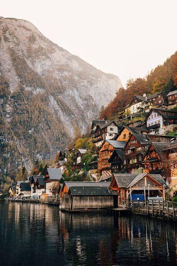 Hallstatt Hallstatt, Austria Austria Mountain Reflection Cabin Water Outdoors Building Exterior Nature VSCO Hallstattersee