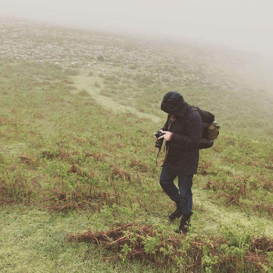Photographer Walking