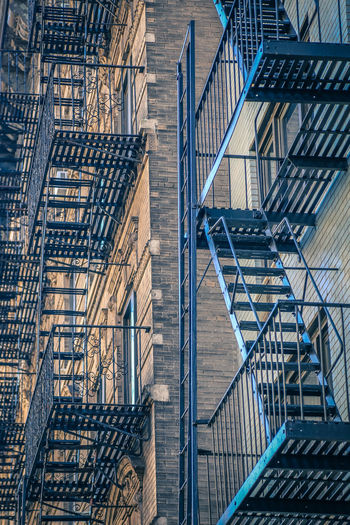 Full Frame Shot Of Fire Escape On Building
