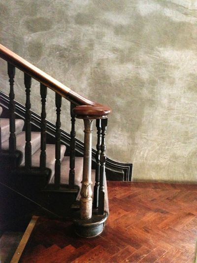 The staircase at Frango's hotel in Daylesford. I love the colours and textures.