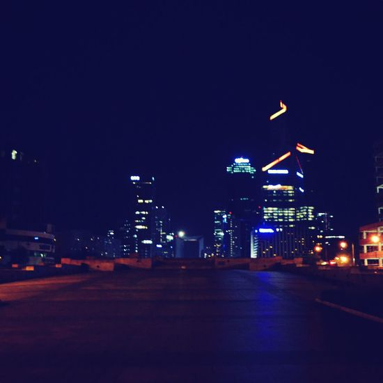 Battle Of The Cities Illuminated Night Dark Transportation Architecture City Life Empty Road