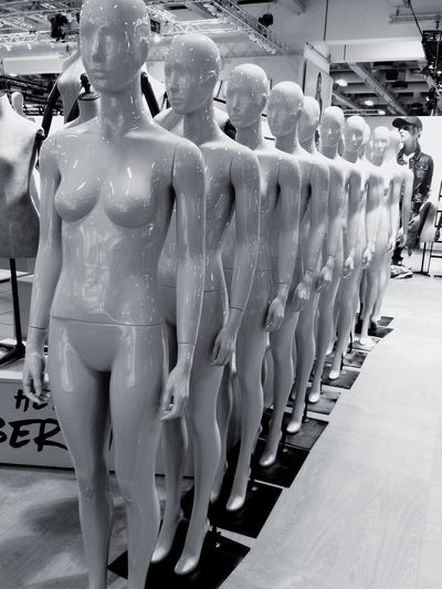 The army if mannequins Mannequin Mannequins Model Modeling Fashion Working Naked Waiting Waiting In Line LOT OF FUN