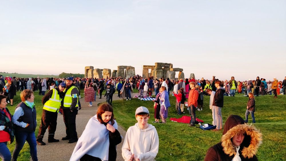 Summer Solstice 2018, Stones after sunrise Large Group Of People Large Crowd Gathering Religious Place Religious Event Summer Solstice Sky