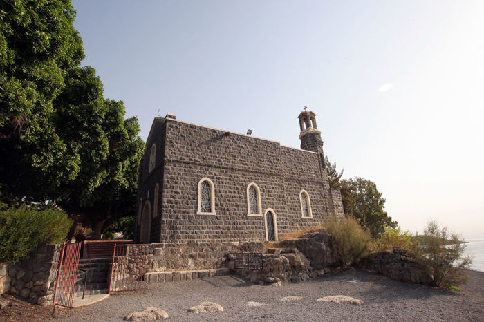 Church of the Primacy of Peter, Tabgha, Israel Architecture Biblical  Capernaum Church Faith Franciscan Galilee Historic Holy Holy Land Israel Jesus Landmark Old Peter Primacy Religion Sea Spirituality Tabgha