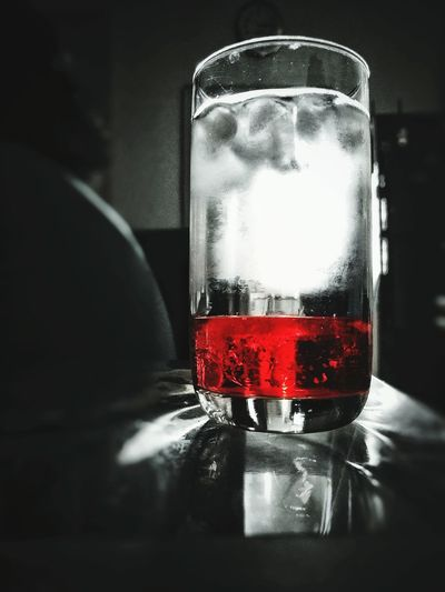 Red No People Close-up Glass Ice Cubes Dew Drink Cocktail Roohafza Summer Chilling Brain Freezer Visual Feast