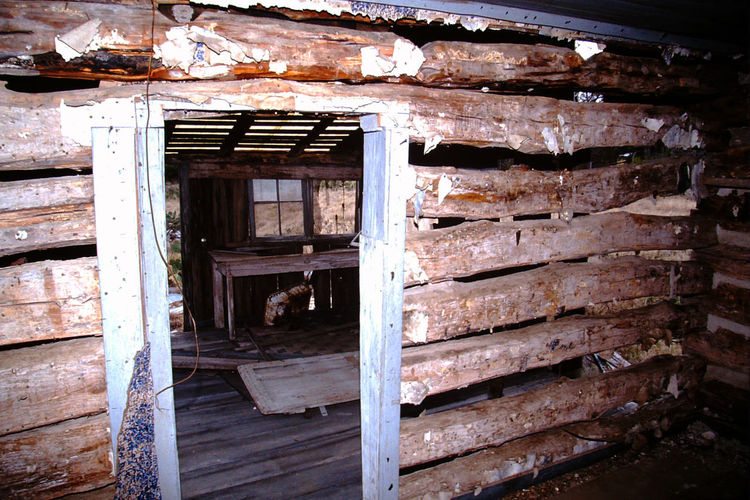 Abandoned & Derelict Frontier Log Cabin Day Log Cabin And A Field Log Cabin Exterior Log Cabin Interior Log House No People Old Buildings Old House Run Down, Neglected,