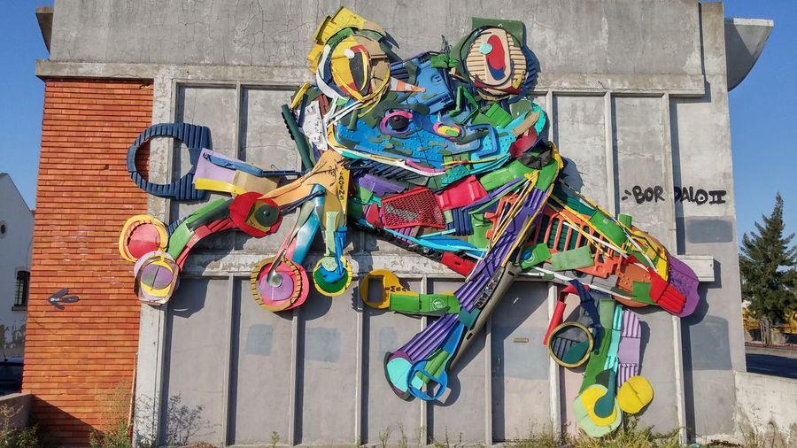 Urban Art at Beato Toad Wall Art Beato Lisboa Portugal Multi Colored Street Art Building Exterior ArtWork Art