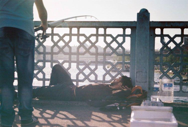 Galata dreaming . The Street Photographer - 2014 EyeEm Awards People Relaxing Enjoying Life Night Night, Sleep Tight