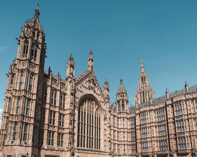 View Of Houses Of Parliament Against Clear Sky
