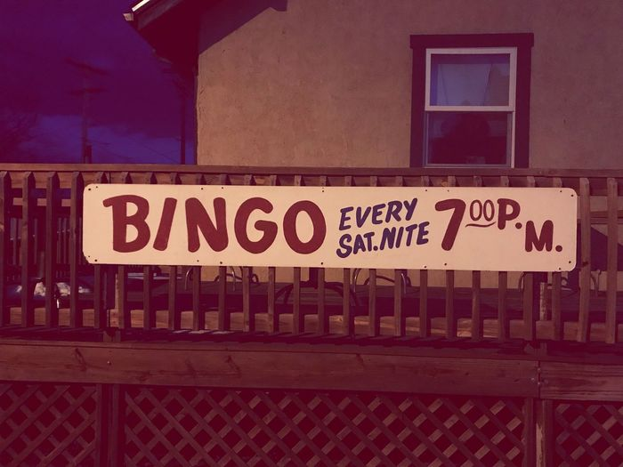 BINGO! Bingo Sign Text Communication No People