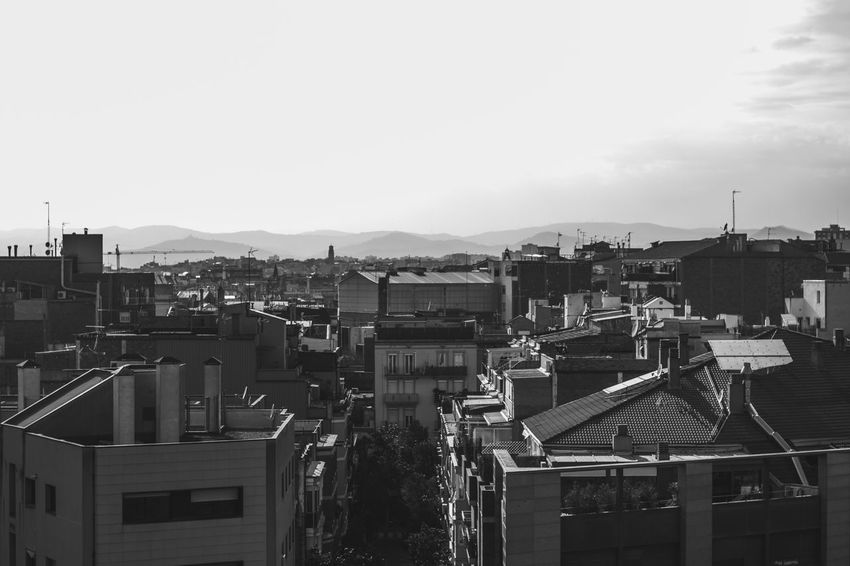 Architecture Outdoors Day No People City Sky Barcelona Neighborhood Portrait Of A City Blackandwhite Black And White Black & White Streetphotography Taking Photos Taking Pictures City City Life Backgrounds The Photojournalist - 2017 EyeEm Awards The Great Outdoors - 2017 EyeEm Awards
