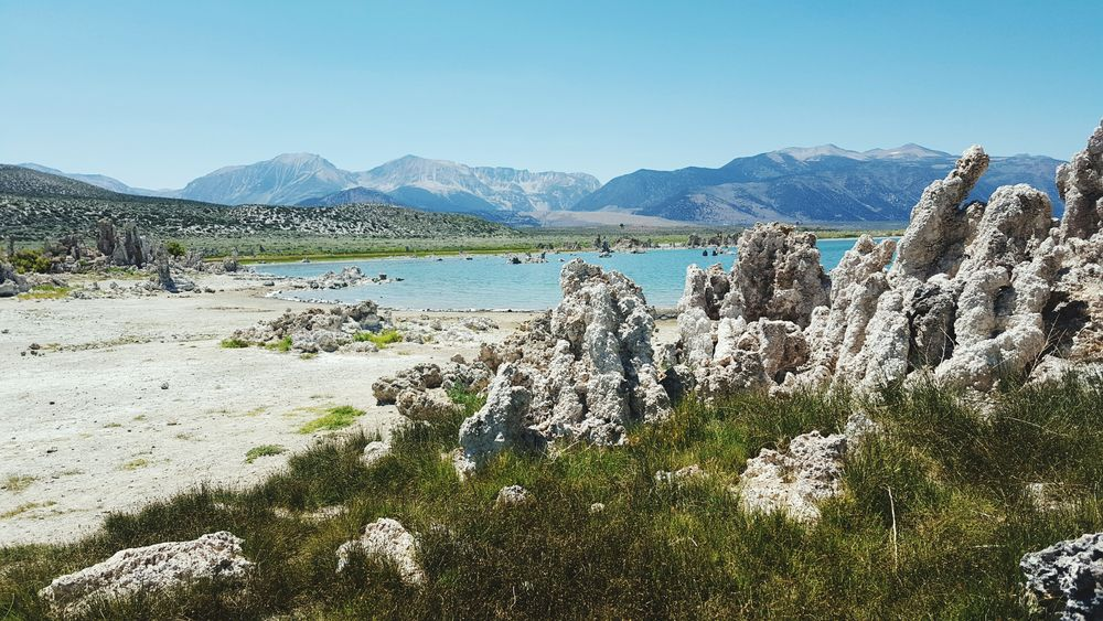 Mono Lake California Blue Water Salt Towers Rock Formations Dried Up Lake Alien Like Spires Lake