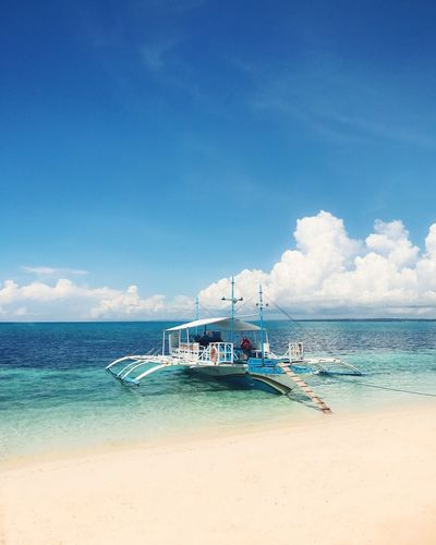 Lovely Colors of the Philippines Philippines Beach Sky Nautical Vessel Horizon Over Water Nature Beauty In Nature Cloud - Sky Day Blue Tranquil Scene Outdoors Vacations Shore