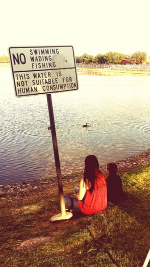 Duckpond Texas Skies Taking Photos Enjoying Life Daughters Hi! Nofishing Sign No Fun Hanging Out