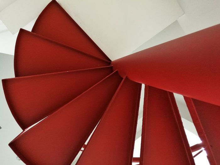 Red Architecture Indoors  Red Staircase Red And White Red And White Colour Interior Design Interior Crafted Beauty