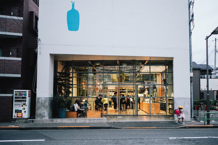 Blue Bottle Coffee @ Kiyosumi Architecture Blue Bottle Coffee Building Exterior City Life Coffee Coffee Time Japan Outdoors People Real People Streetphotography Tokyo