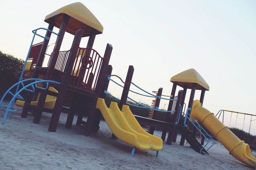 Oil Pump People Outdoors Low Angle View Childhood Child Day Sky Playground Paint The Town Yellow