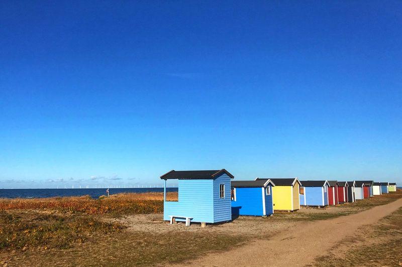 Sky Land Blue Beach Clear Sky Sea Sand