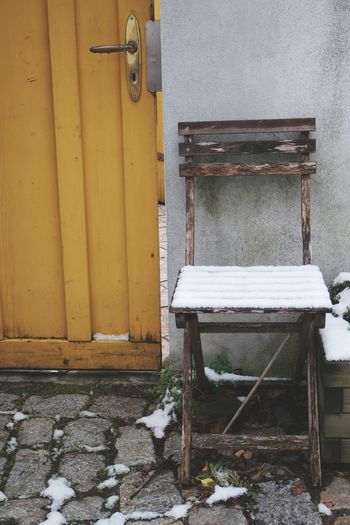 take a (wet and snowy) seat... Taking Photos How's The Weather Today? Check This Out Photography EyeEm 5.0 F1 Filter Is This Seat Taken? Just Around The Corner