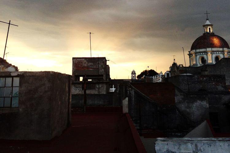Church Sunset Sundown Mexico Rooftop