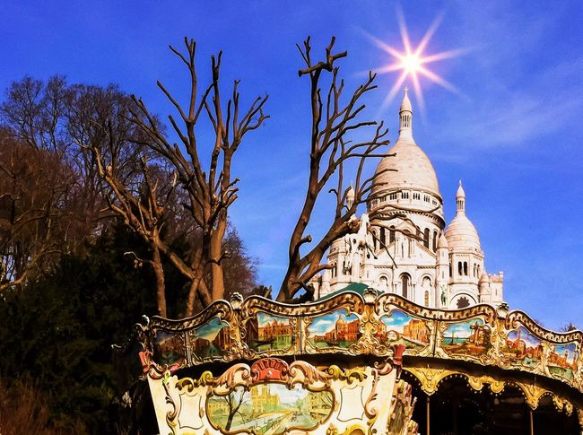 Sacre Coeur Basilica, Paris Montmartre, France. Architecture Architecture_collection City Cityscapes Outdoors Outdoor Photography Amusementpark Church Churches Landmark Landmarkbuildings Monument Sun Sunny Day Tree Sacre Coeur Sacré Coeur, Paris Paris France Iphonephotography IPhoneography Mobilephotography Mobile Photography Montmartre
