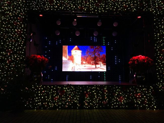 Night Tree Illuminated Arts Culture And Entertainment No People Celebration Plant Technology Screen Decoration Event Nature Outdoors Representation Holiday