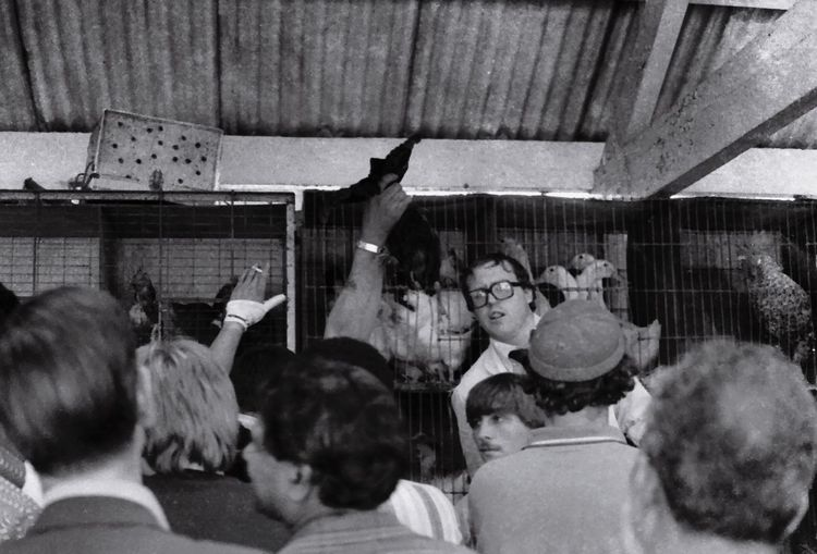 Indoors  Celebration People Adult Adults Only Human Body Part Domestic Animals Day Mammal Only Men Market Cattle Market Livestock Market Leicester Market Leicester Black And White Film Photography Vintage 1980s Retro History