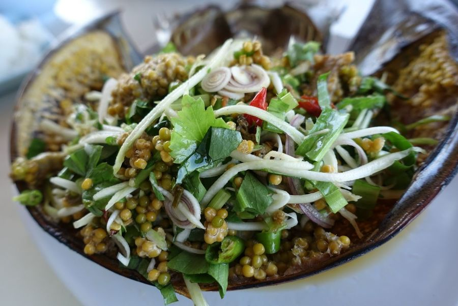 Food Seafoods Horseshoe Crab Spicy Salad Spicy Horseshoe Crab Eggs Salad Horseshoe Crabs Foodphotography Spicy Food Spicy Thai Food Thai Food Thai Foods Thai Food Style