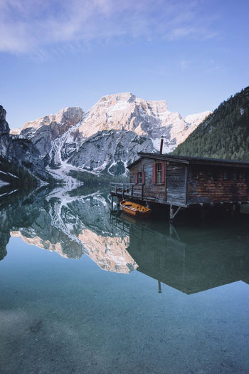 Reflections Water Mountain Reflection Sky Lake Architecture Waterfront Built Structure Building Exterior Scenics - Nature Mountain Range Tranquility Nature Nature_collection Nature Photography Naturelovers Nature On Your Doorstep Outdoors Outdoor Photography Outdoors Photograpghy  Reflection Reflections Italy Southtyrol  Beauty In Nature