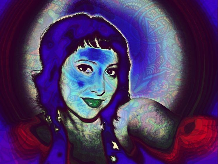 Phsycedelic Colorful Self Portrait Selfie