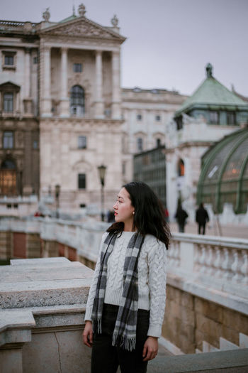 Winter in Vienna Vienna, Austria Austria Vienna Portrait Of A Woman Portrait Photography Focus On Foreground Travel Destinations One Person Only Women Portrait Adult One Woman Only Vacations Architecture Beautiful Woman Travel Long Hair Built Structure Beauty