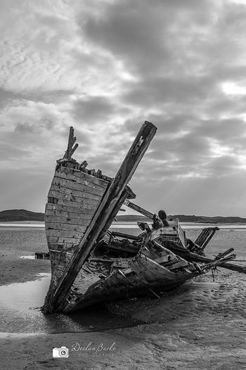 Old wreck known as Bad Eddie in bunbeg shore in County donegal, Ireland