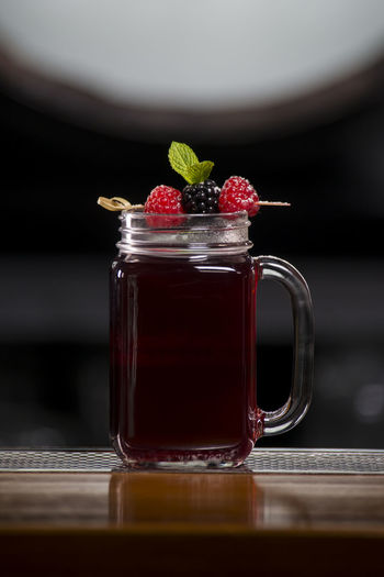 Bar Black Close-up Food And Drink Longdrink Mulberry Nature No People Purple Raspberry Reflection Sweet Food