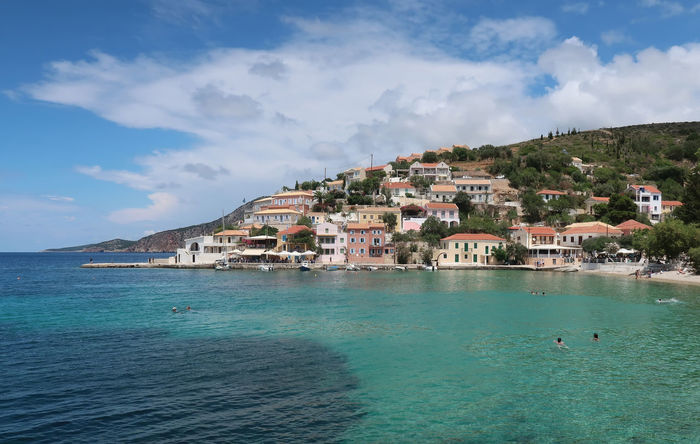 Assos village in Kefalonia, Greece Assos, Kefalonia, Greece GREECE ♥♥ Greece Photos Landscape_Collection Travel Architecture Beauty In Nature Building Building Exterior Cloud - Sky Greece Ionian Sea Kefalonia Landscape No People Residential District Scenery Scenics Sea Sky Tourism Vacation Village Water Waterfront