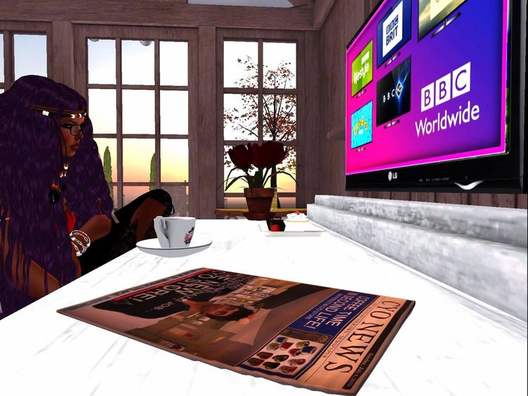 8-10p: Tea time and vOffice. [18:14] Now playing: Ariana Grande - No Tears Left To Cry Secondlife Virtual Reality Indoors  Leisure Activity