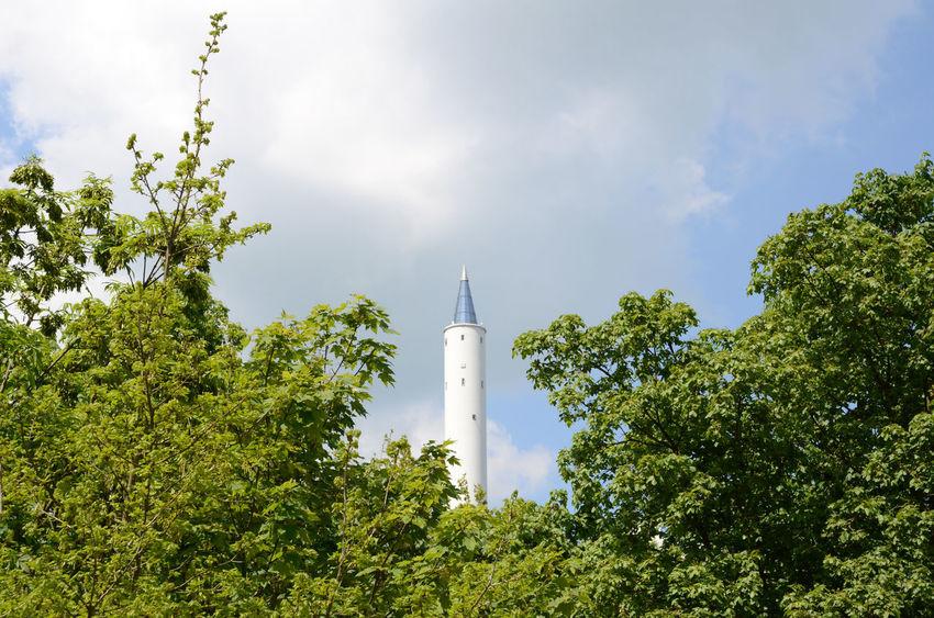 Architecture Building Exterior Built Structure Drop Tower Fallturm Gap Tower Trees ZARM